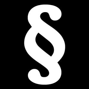 Webseiten-Icon Paragrafensymbol